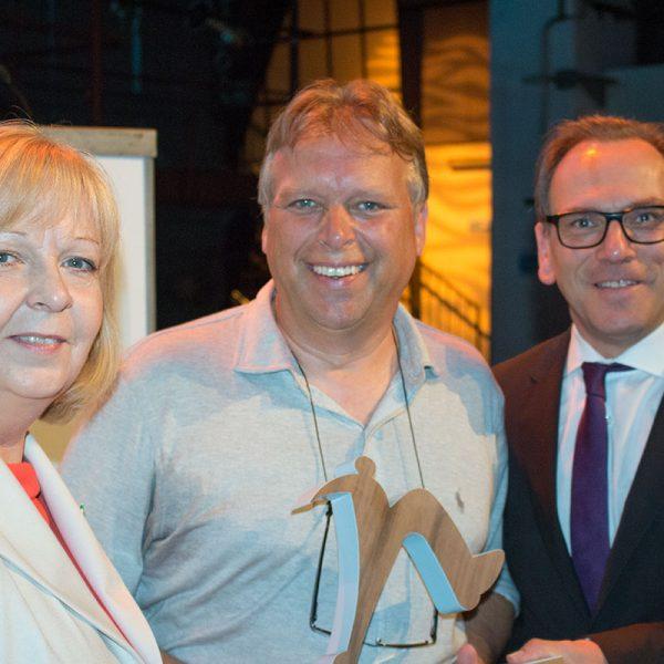 Jörg Heynkes mit MP Hannelore Kraft a.D. und OB Andreas Mucke