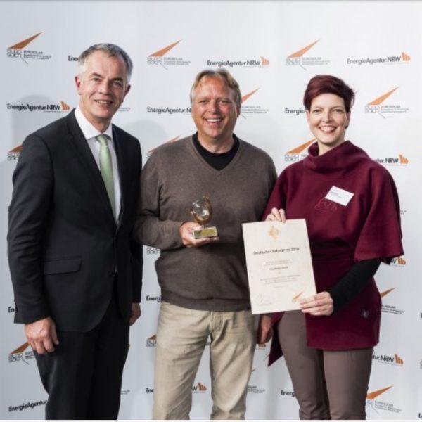 Solarpreisverleihung 2016 mit NRW Umweltminister Johannes Remmel a.D. und MdL Wibke Brems